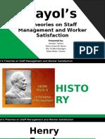 Henri Fayol Theory of Management