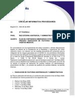 CIRCULAR INFORMATIVA RAD. Y AUD. SCEB-CONTINGENCIA COVID 19- UTT