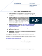 CDC Indoor Air Quality Policy [USA] 2009