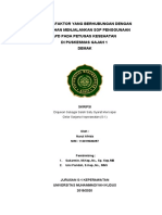 Revisi Bab 1_faktor-faktor yang berhubungan dengan kepatuhan menjalankan standar operasional prosedur (SOP) penggunaan alat pelindung diri (APD) pada petugas kesehatan