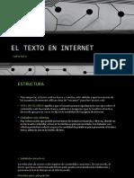 EL TEXTO EN INTERNET
