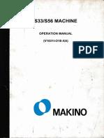 Makino S33-S56 Machine Operator Manual
