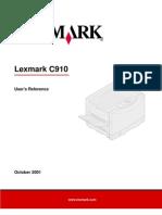 Lexmarkc901 Manual