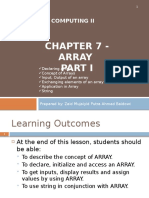 Chapter 7 - Array I