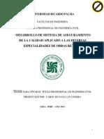 """""""Desarrollo de Sistema de Aseguramiento de La Calidad Aplicado a Las Diversas Especialidades de Obras Retail """""""