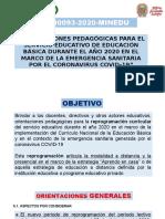 Análisis de La Rvm Nº 0093-2020