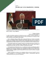 Advierte López Obrador que va tras huachicoleo y sabotaje en puertos