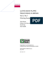Lloyds Bank IFRC - Cloning Success May 1997 - Franchising in Britain Series