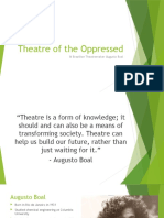 Augusto Boal & Theatre of the Oppressed