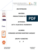 TIPOS DE FLUJO EN EL YACIMIENTO FERNANDO ANTONIO MARTINEZ VAZQUEZ