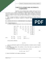 COMPORTEMENT ELASTIQUE DES MATERIAUX COMPOSITES