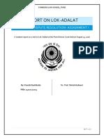 REPORT_ON_LOK-ADALAT_ALTERNATIVE_DISPUTE