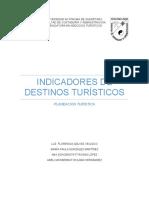 INDICADORES DE DESTINOS TURISTICOS