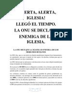 ALERTA, ALERTA IGLESIA, LLEGO EL TIEMPO