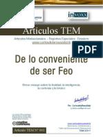 TEM 001 - De Lo Conveniente de Ser Feo - CarlosdelaRosaVidal