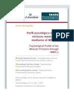 Perfil psicológico de los reclusos mexicanos mediante el MMPI-2