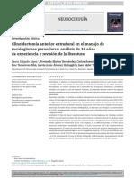 Clinoidectomía anterior extradural en el manejo de meningiomas paraselares    análisis de 13 años de experiencia y revisión de la literatura.pdf