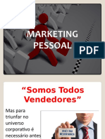 Marketing pessoal  Aula Slide