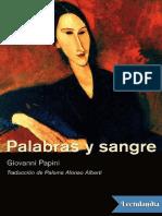 Palabras y Sangre - Giovanni Papini