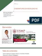 INDUCCIÓN ASIGNATURAS 2020-I