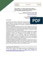 Artigo completo - A NORMATIVIDADE JURÍDICA E O MODO DE SER QUILOMBOLA- A tensão entre a normatividade estatal e a normatividade tradicional no interior do território da comunidade quilombola do Baú (Serro).