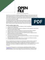 Open File rédacteur en chef Montreal