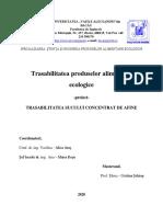 Trasabilitatea fabricarii sucului de afine