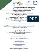 Argumentaire colloque Législation maritime 27 juin 2019 11 avril 2019. version Finale doc