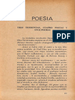 Tres Tendencias, Cuatro Poetas y Once Poemas