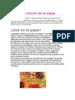 Historia cultural de la papa