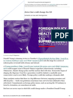 Seven Donald Trump policies that could change the US
