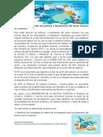 un ensayo sobre  un ensayo describiendo las políticas y lineamientos del sector turístico en Colombia