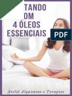 meditando com 4 oleos essenciais