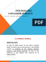Deontologia doble moral