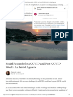 Social Research for a COVID and Post-COVID World_ An Initial Agenda