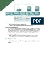 Práctica de laboratorio 10 Configuración de la seguridad de puerto
