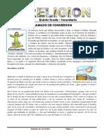 FICHA DE RELIGION 06 - QUINTO GRADO SECUNDARIA