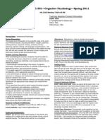 UT Dallas Syllabus for cgs3361.501.11s taught by Daniel Krawczyk (dck061000)