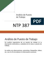 10. ANALISIS  DE  CONDICIONES DE TRABAJO LFR