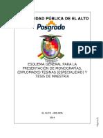 ESQUEMA GENERAL DE MONOGRAFIAS TESINAS Y  TESIS  AGO-2014.docx