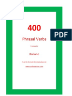 400 Phrasal Verbs. English - Italiano