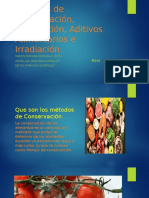 Métodos de Conservación, Liofilización, Aditivos Alimentarios.pptx