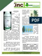 Ficha Tecnica Nutri Zinc AgroSoluciones LA