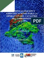 Conceptualización para operación del CMP