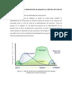 1.4.2 Funciones de la administración de proyecto en cada fase del ciclo de vida del proyecto.