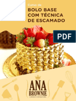 Ana Brownie Bolo Base Com Tecnica de Escamado