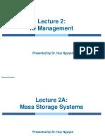 Lecture 2 - IO Management