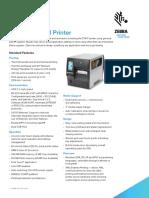 Zebra ZT411  Datasheet - Controles Empresariales