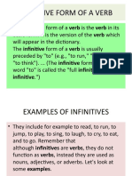 Infinitive and Gerunds
