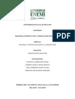 Maestría en Producción y Operaciones Industriales Taller 1